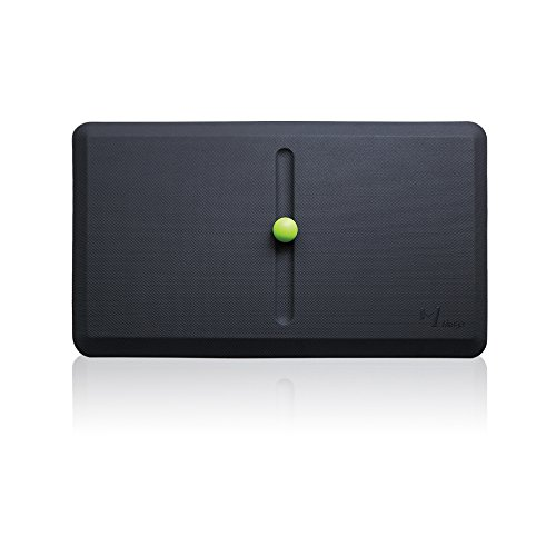 Premium 3/4' Anti-Fatigue Mat, Standing Desk Comfort Mats with One Massage Ball for Kitchen and Office | Ergonomically Engineered, Non-Toxic, Waterproof | Active Floor Mat Cushioned