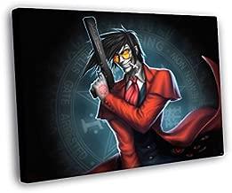 H5V6065 Hellsing Alucard Vampire Gun Anime Manga Art 50x40 FRAMED CANVAS PRINT