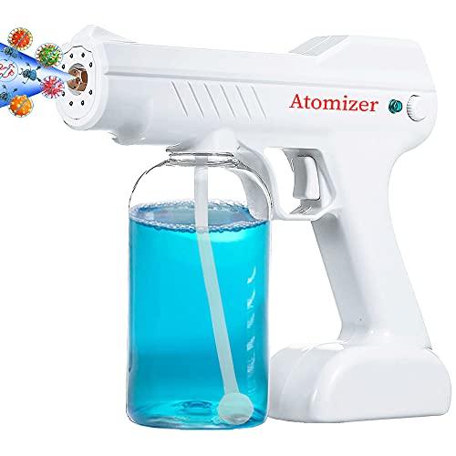 MaikcQ Cordless Disinfectant Sprayer Machine 2021 Nano Fogger Portable Atomizer 800ML Spray Gun ULV Spray Fogger with Blue Light for Home Office