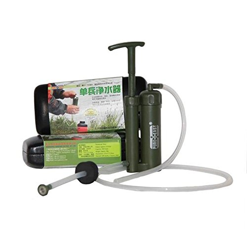 Pure Easy - Purificador de agua, filtro de agua, de plástico, cartucho de cerámica, portátil (0,1 micras, para exteriores, supervivencia, senderismo, acampada)