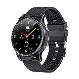 WEINANA Männer Smart Watch Bluetooth Anruf Blutdruck 24 Stunden Herzfrequenz Fitness Tracker Smartwatch Multimode-Sportuhren(Color:B.)