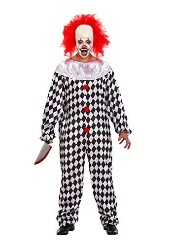 Pagliaccio Spaventoso con Parrucca costume Halloween