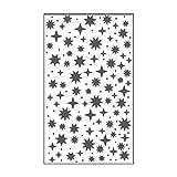 Vaessen Creative Mini Carpeta de Embossing, Cielo Estrellado, para Agregar Textura y Dimen...