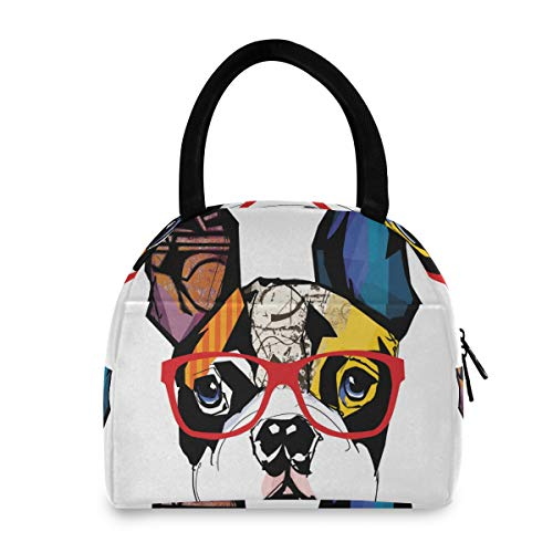 French Bulldog Lunch Bag Tote Bag Lunch Bag for Women Lunch Box Insulated Lunch Container(h)