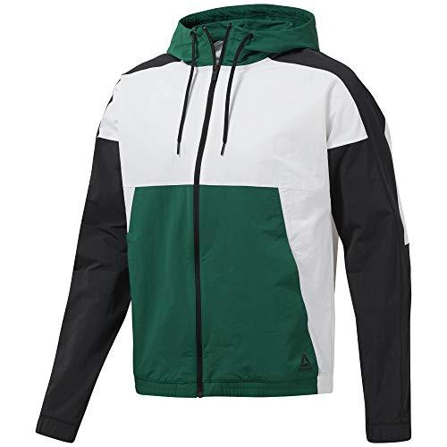 Reebok Herren MYT Longsleeve Weiß, Grün Shirts, M