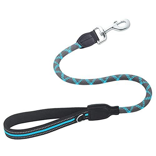 Correa De Perro Duradera Azul Cuerda De Tracción para Perros Grandes Y Cortos Tracción para Perros Grandes Cuerda De Escalada Reflectante Entrenamiento para Caminar M