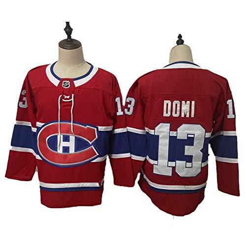 Yajun Max Domi#13 Montreal Canadiens Eishockey Trikots Jersey NHL Herren Sweatshirts Atmungsaktiv T-Shirt Bekleidung,XL