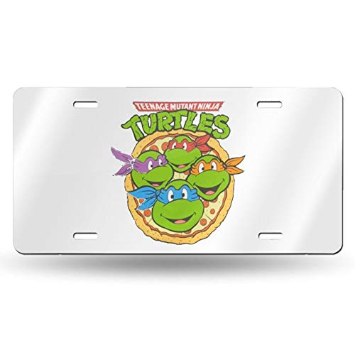 "Teenage Mutant Ninja Turtles Aluminum Metal License Plate Car Label Novelty Jewelry License Plate 6"" X 12"""