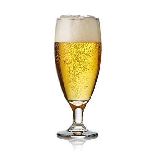 Libbey Craft Brews Nucleated Pilsner Beer Glasses, Set of 4