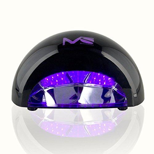 MelodySusie 6W Violetili LED Light Lamp Gel Nail Dryer for Curing LED Gel & Gelish Nail Polish Black + MelodySusie Nail Nipper