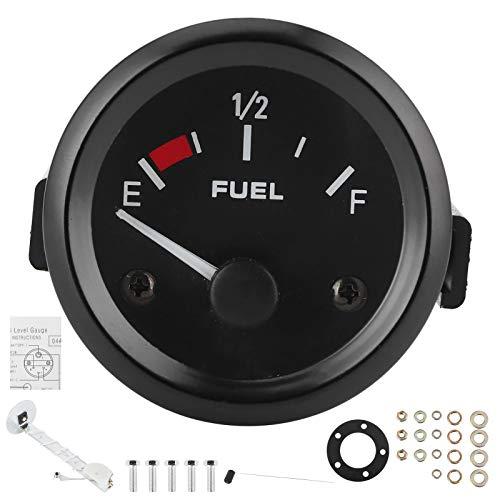 Kraftstoffstand Anzeige, 2 Zoll Kraftstoffstand Anzeige Weißes Licht mit Schwimmersensor Universal für 12V Benzinfahrzeuge
