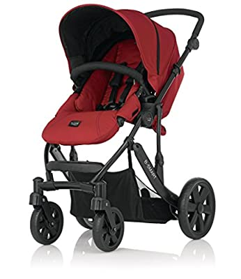 Britax B-Smart 4 Chili Pepper, Geburt bis 15 kg, Chili Pepper/schwarzes Chassis