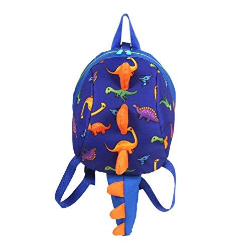 Fossrn Mochila Escolares para Niños Niña 3D Dinosaurio Animal Mochilas Colegio Bolso para Guardería Primaria del 2 a 6 años Infantiles (Blue)