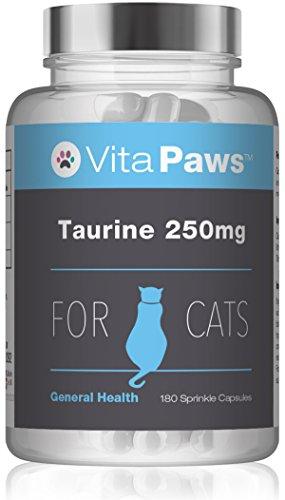 VitaPaws™ Taurin 250mg - für Katzen - 180 Streukapseln - SimplySupplements
