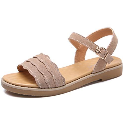 Femmes Casual Plateforme Sandales Faux Suede Boucle Confort Mode Open Toe Slide Sandale Chaussures