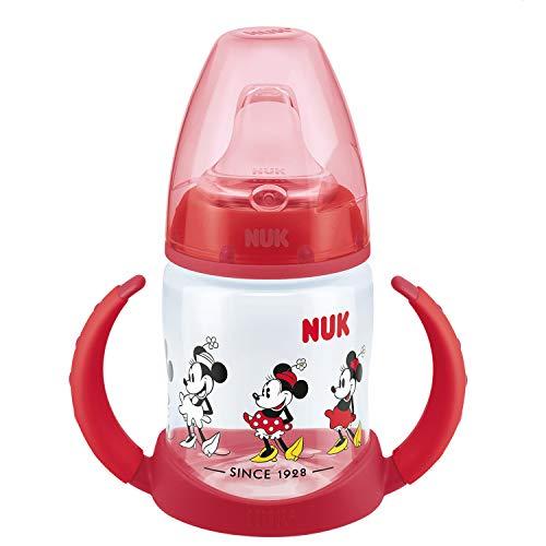 NUK Disney First Choice+ tazza biberon   6+ mesi   Beccuccio in silicone a prova di perdite   Sfiato anti-coliche   Senza BPA   150ml   Mickey Mouse (rosso)   1 pezzo