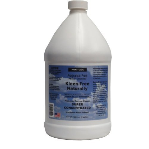 1 Gallon Concentrated, Unscented Fragrance Free, Kleen Free Naturally, Natural, Non-Toxic, Enzyme Solution and Multi-Purpose Product, Cleaner, Laundry Additive and More