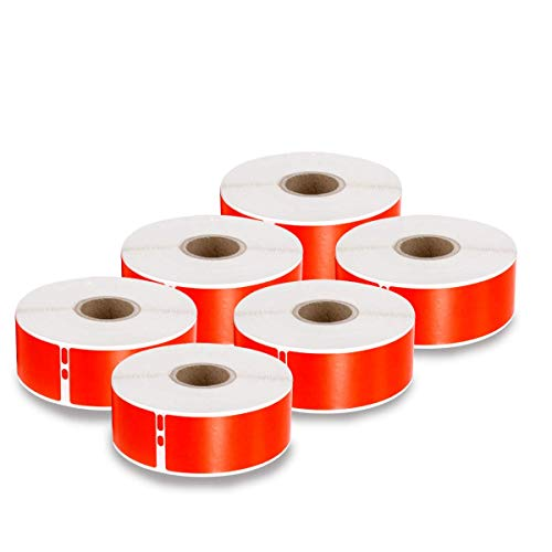 enKo [6 Rolls, 2100 Labels] Address, Shipping & Barcode Labels 30252 - RED/Magenta (1-1/8' x 3-1/2') for Dymo LabelWriter