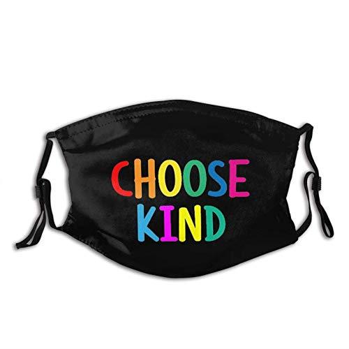 Mascarilla Kindness Black Be Kind-Face con 2 filtros, pasamontañas reutilizable y lavable, para hombres, mujeres y adultos