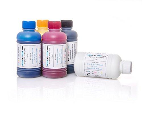 Nachfuelltinte 250ml NOVA-X DTEX PRO | Pigment Textiltinte | T-Shirtdruck | Flachbettdruck | Textildruck | Pre-Treatment fuer dunkle Textilien