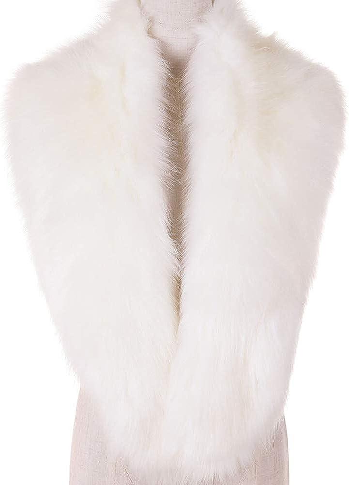 Dikoaina Extra Large Women's Faux Fur Collar for Winter Coat