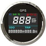 ELING Universale digitale GPS tachimetro trip Meter regolabile contachilometri per moto barca yacht auto 52mm 12V 24V