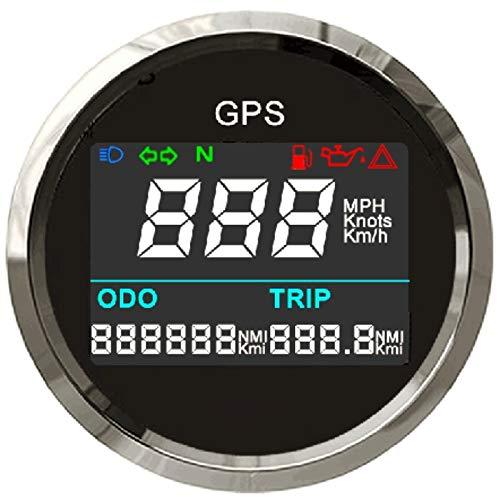 ELING Digital GPS Tachometer Einstellbare Kilometerzähler Für Boot Yacht Motorrad Auto 2 zoll (52mm)