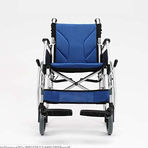 L-Y aluminiumlegering, multifunctionele lichte vouwbare handmatige oude rolstoel, ouderen, gehandicapten, dikke aluminiumlegering, draagbare reis, oudere rolstoel