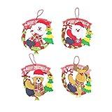 HYYK 4pcs Weihnachtspuppe Girlande Weihnachtsbaum hängen Dekoration Fenster Anhänger Cartoon Kranz...