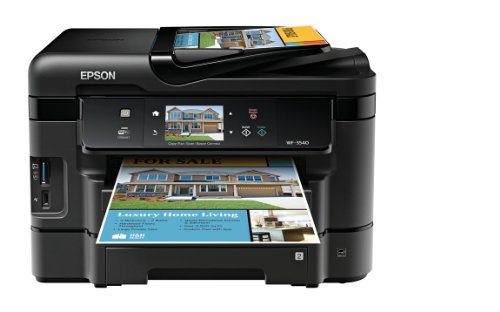 Price comparison product image Epson WorkForce WF-3540 Wireless All-in-One Color Inkjet Printer,  Copier,  Scanner,  2-Sided Duplex,  ADF,  Fax. Prints from Tablet / Smartphone. AirPrint Compatible (C11CC31201)