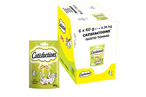 Catisfactions Snack per Gatto, Favoloso Tonno, 6 Confezioni da 60 g