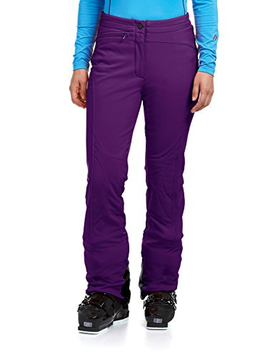 Maier Sports Damen Marie Slimfit Softshell-Skihose, Violett (dark purple), 38