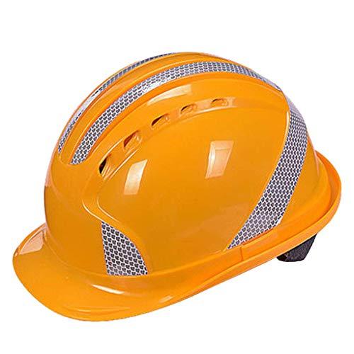 QXX Casco de Seguridad - Diseño de Tira Reflectante Transpirable, Segura y...