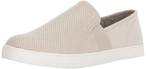 Dr. Scholl's Shoes womens Luna Sneaker, Greige Microfiber Perforated, 9 US
