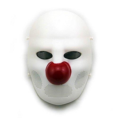 Máscara completa de payaso terrorífico Airsoft Tactical de H World EU, para cosplay, disfraces, Halloween, color E, tamaño Tamaño regular