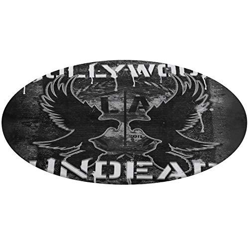 Coral Velvet Mat Cozy Floor Mat Entrance Mat Shaggy Mat Hollywood Undead Logo Floor Mat Round