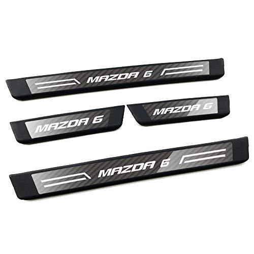 Lxzy 4Pcs Edelstahl Einstiegsleisten Türschweller für Mazda 6 2014-2019, Türschweller Pedal Schützen Leisten Schweller Schutzleisten Stoßstangenschutz Zubehör