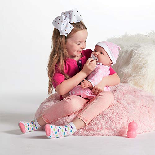 JC Toys 'Lots to Cuddle Babies' 20-Inch Pink Soft Body Baby Doll and Accessories Designed by Berenguer