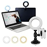 SELFILA Video Conference Lighting Kit,Zoom Call Lighting/Remote Working/Webcam Lighting/Self Broadcasting,Live Streaming Ring Light for Laptop and Monitor