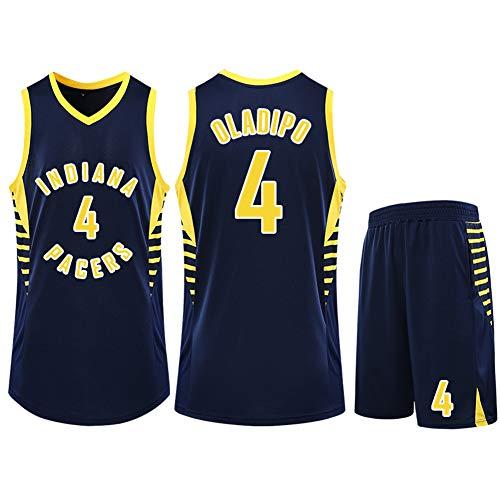 Traje de uniforme de baloncesto para niños, camiseta de baloncesto Indiana Pacers No. 4, camiseta de apoyo para los fanáticos de Victor Oladipo, camiseta de baloncesto para hombres, entrenamiento de