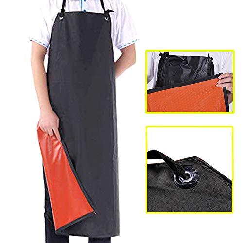 Delantal de cuero a prueba de agua Mancha de ácido químico Resistencia al aceite Taller industrial Trabajo Trabajo Alargamiento Goma Chef Cocina Lavavajillas Carnicero