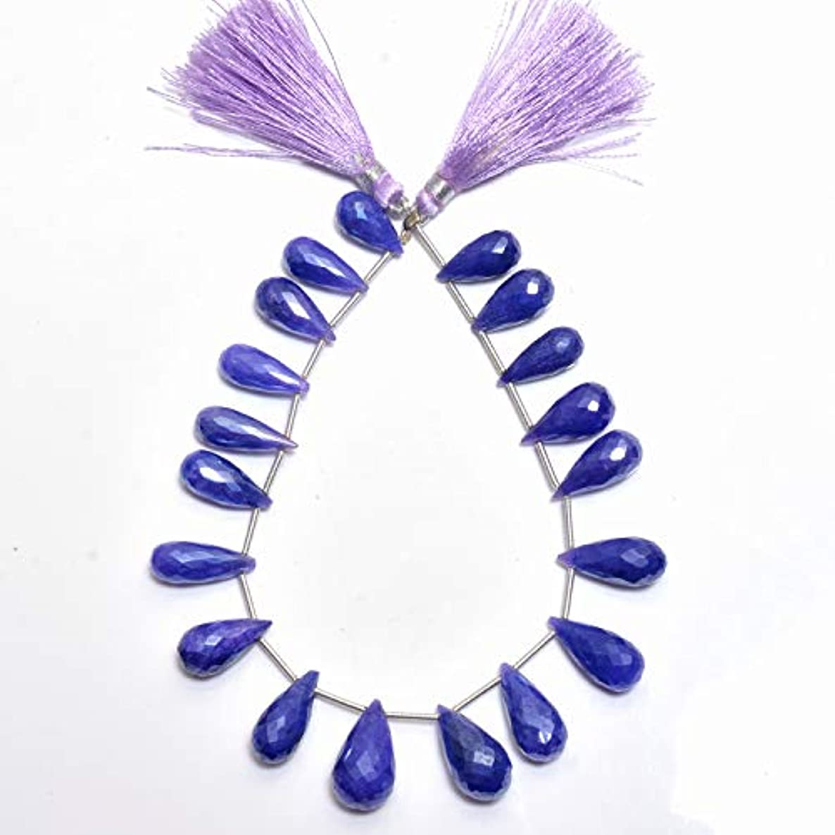 Natural Purple Quartz (Coated), Listed by BESTINBEADS, AAA Quality Faceted Tear Drop Side Drill semi Precious Gemstone Bead Strand 4 inches Long.