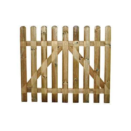 Cancello in legno Europeo impregnato in autoclave recinzione giardino resistente 80x100 cm EV