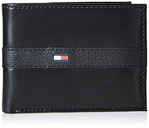 Tommy Hilfiger Men's Leather Wallet – Slim Bifold with 6 Credit Card...