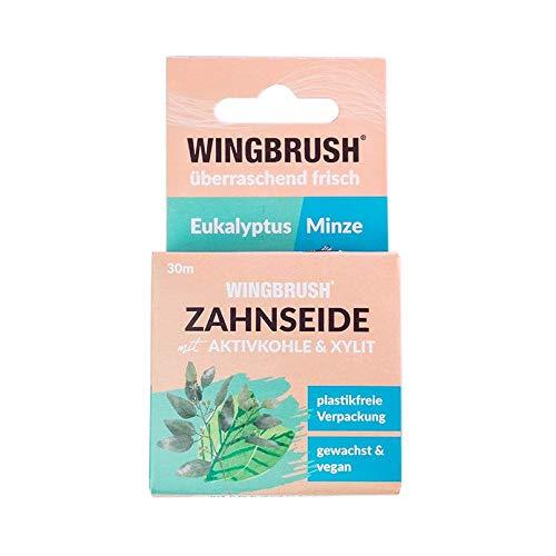 WINGBRUSH® umweltfreundliche Zahnseide Eukalyptus Minze | Bekannt aus