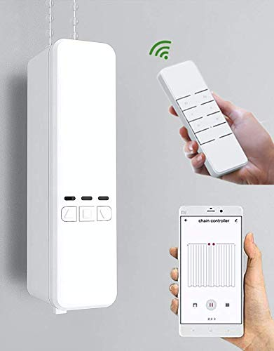 Homesupplier Smart Blinds Chain Motor, Automatic Blinds Controller: Compatible with Alexa, Google Home, IFTTT, Smart Life App