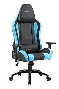 Newskill Takamikura - Silla gaming profesional (inclinación y altura regulable, reposabrazos ajustables, reclinable 180º), Color Azul