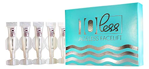 Anti Aging 10 Less Ageless Facelift -Look 10 Years Younger in 5 Minutes-Hyaluronic Acid And Stem Cells- Instantly Cream Under Eye Bags Treatment, Dark Circles, Wrinkles, Puffiness. Temporary Results