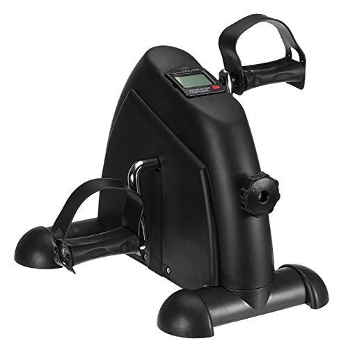 JIN GUI Mini Bicicleta estática, Monitor LCD Mini Bicicleta estática con Pedal, Bicicleta de Entrenamiento de rehabilitación Paso a Paso para el hogar, Equipo de Entrenamiento para piernas en casa