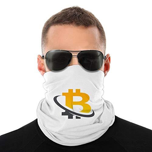 Icono del logotipo de Bitcoin bufandas cálidas unisex pañuelos para la cabeza sombreros multifuncionales para toallas faciales elásticas bufandas lavables de 20 * 10 Pulgadas